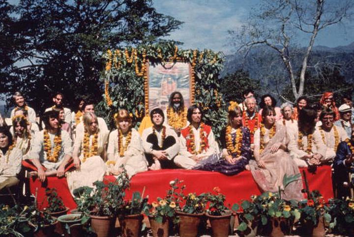 Beatles v ashramu leta 1968.