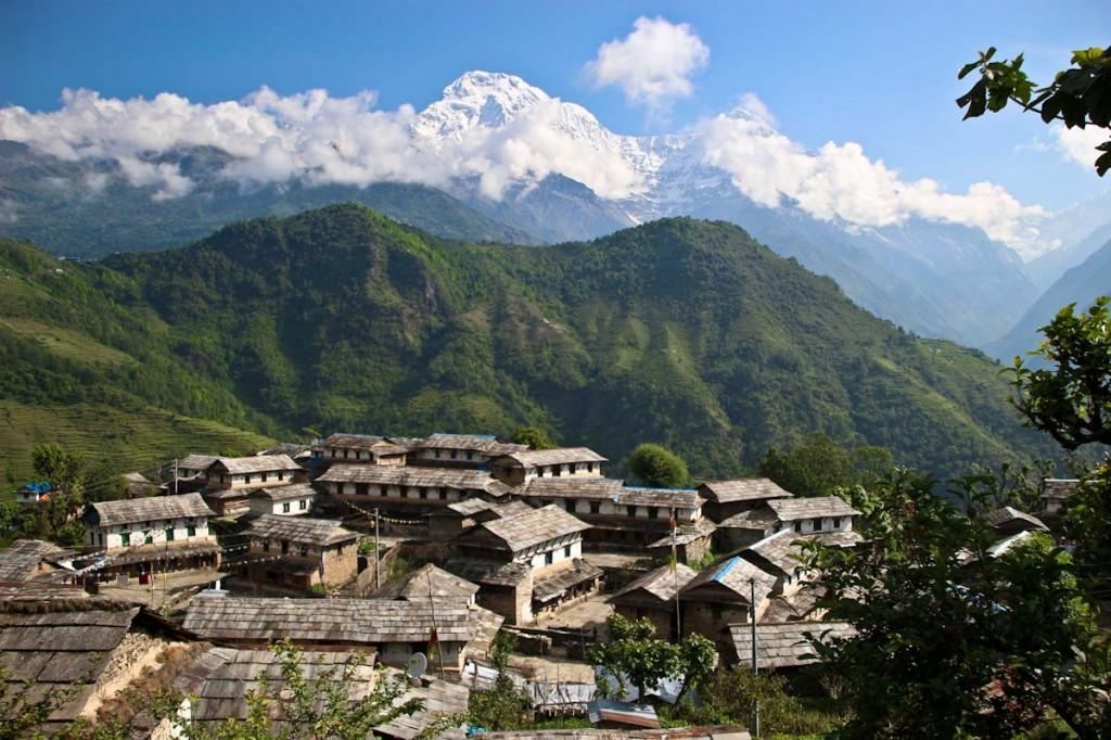 TIpično gorsko mesto v osrčju Himalaje.
