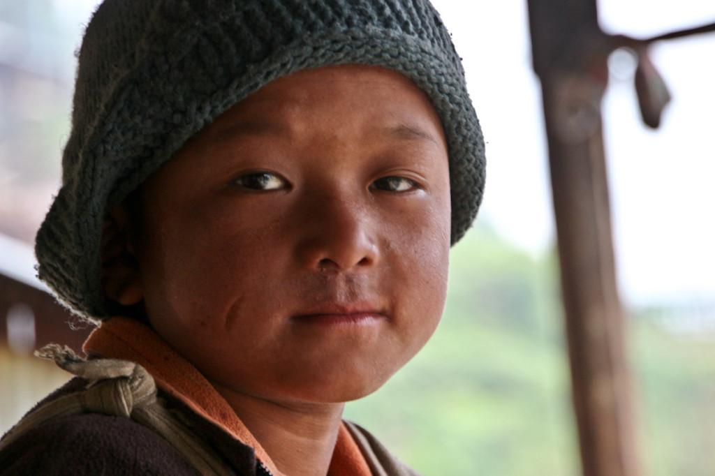Pri tem fantiču sva počakala, da je minila najina prva gorska monsunska nevihta.