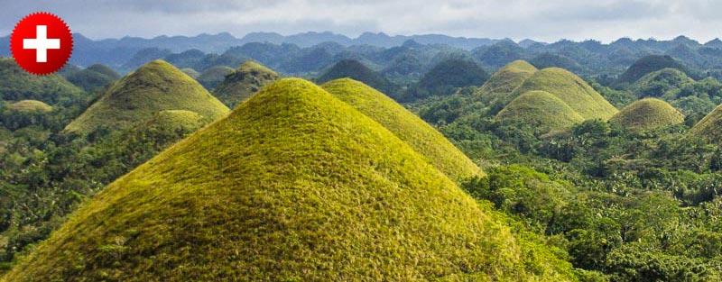 Čokoladni grički (chocoate hills) na otoku Bohol. In nekaj informacij, kako priti v glavno mesto Bohola, Tagbilaran, kje spati in koliko plačati.