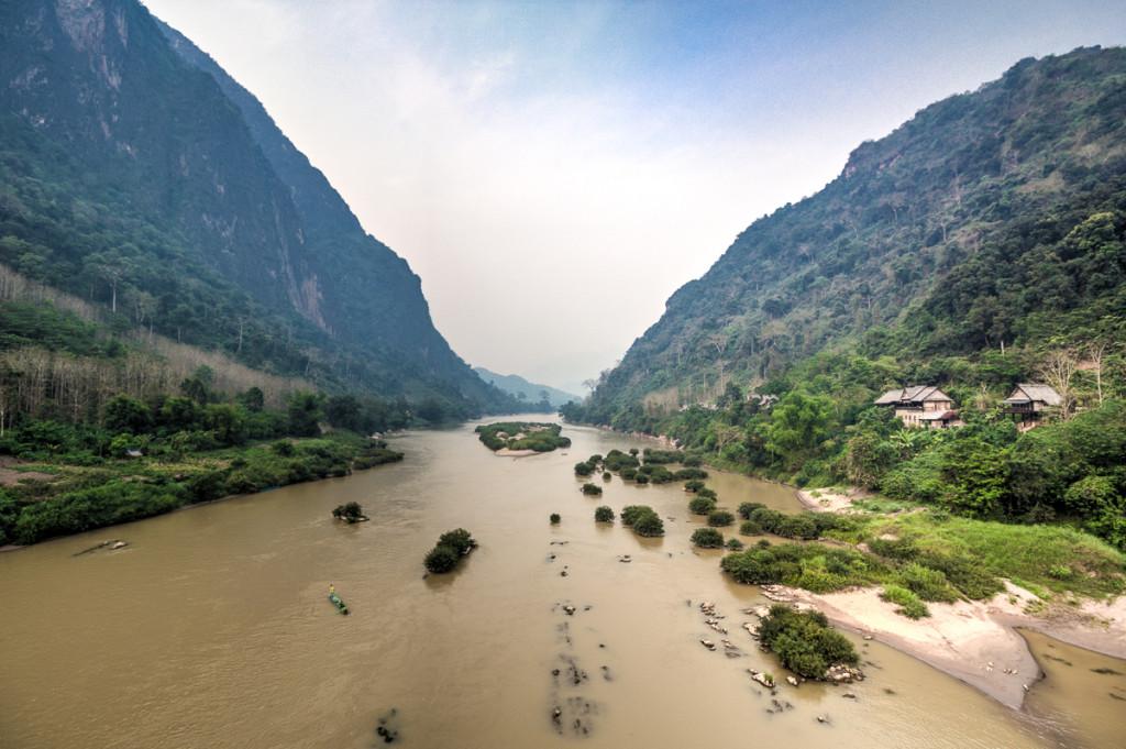 Potovanje v Laos. Nong Khiaw.