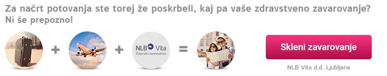 NLB Vita, turistično zavarovanje z asistenco v tujini
