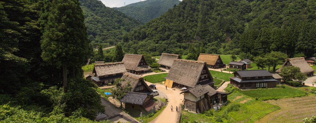 Majhna tradicionalna japonska vasica, Gokayama.