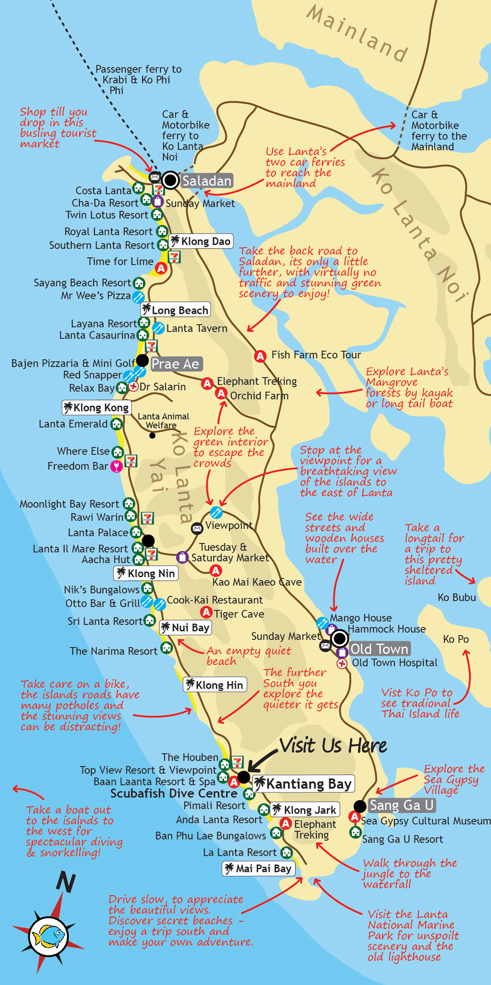 Mapa Koh Lante