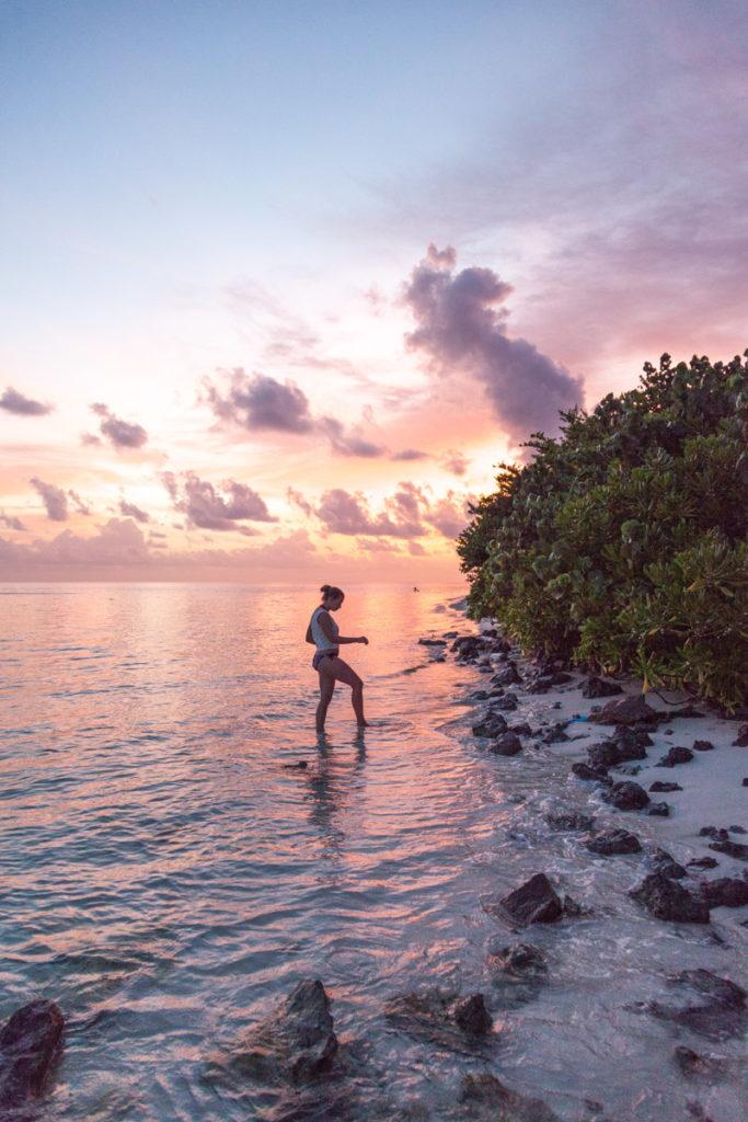 Sončni zahod na Maldivih