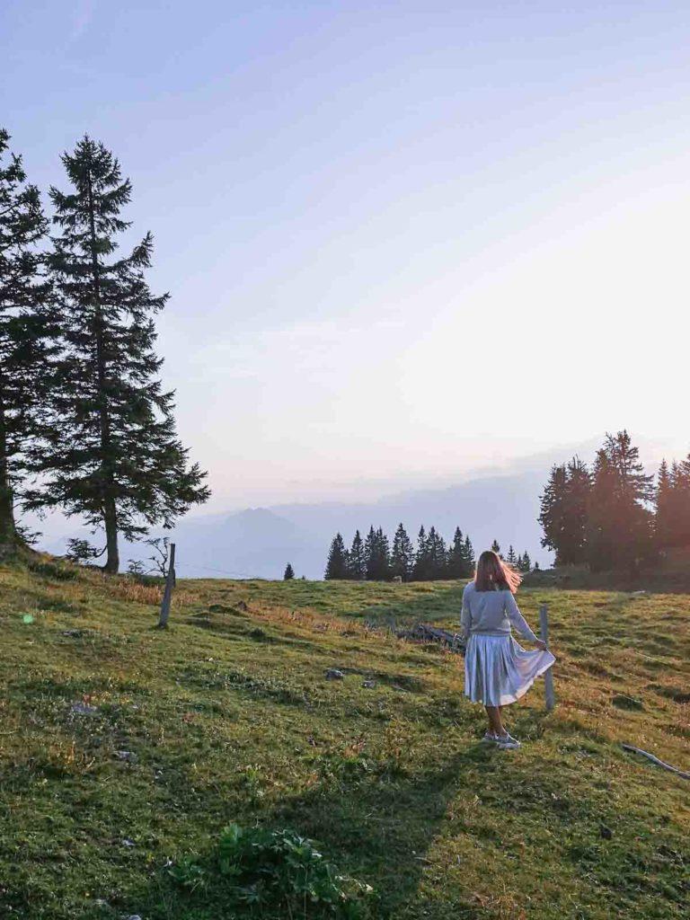 SOnčni zahod na Golteh, Slovenija.