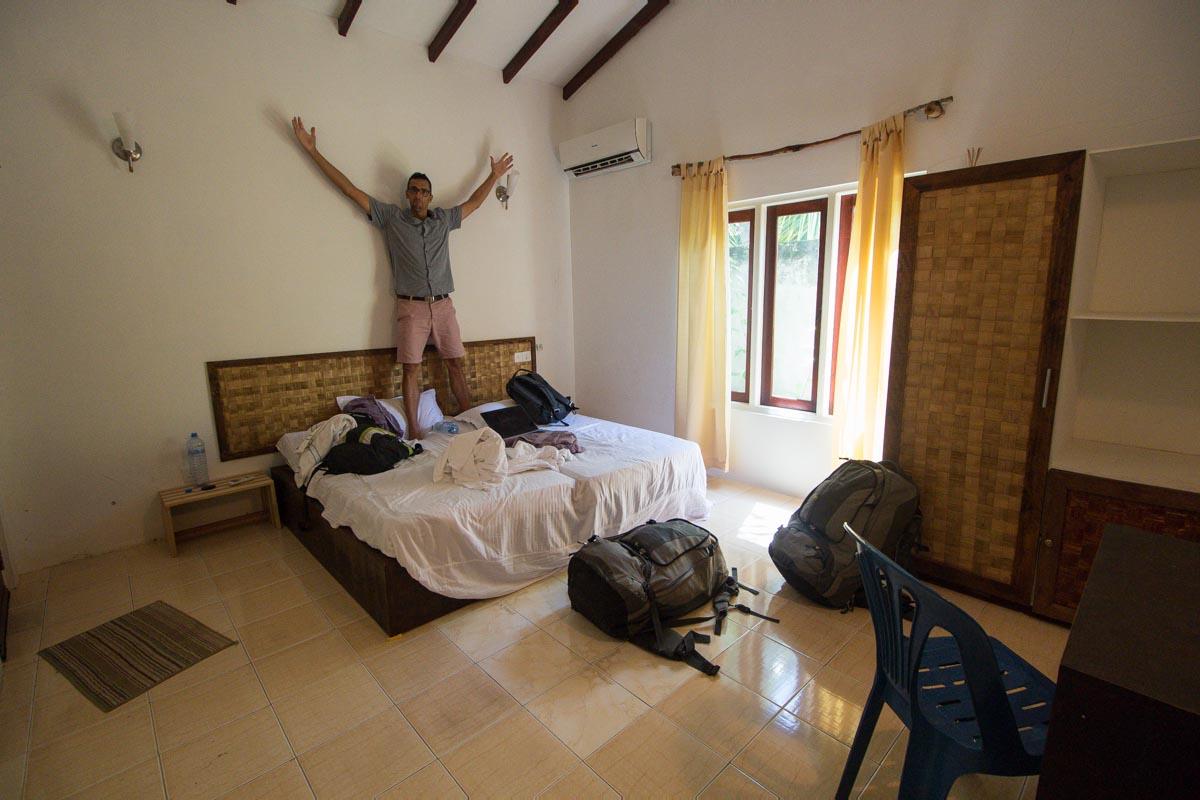 Sobe na Maldivih.