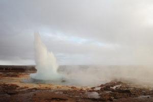 Gejzir Strokkur, Golden Circle, Islandija