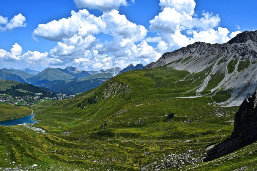 Jezero Schwellisee, Arosa, Švica