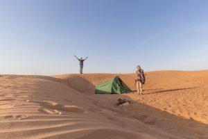 Kamp v puščavi, Oman