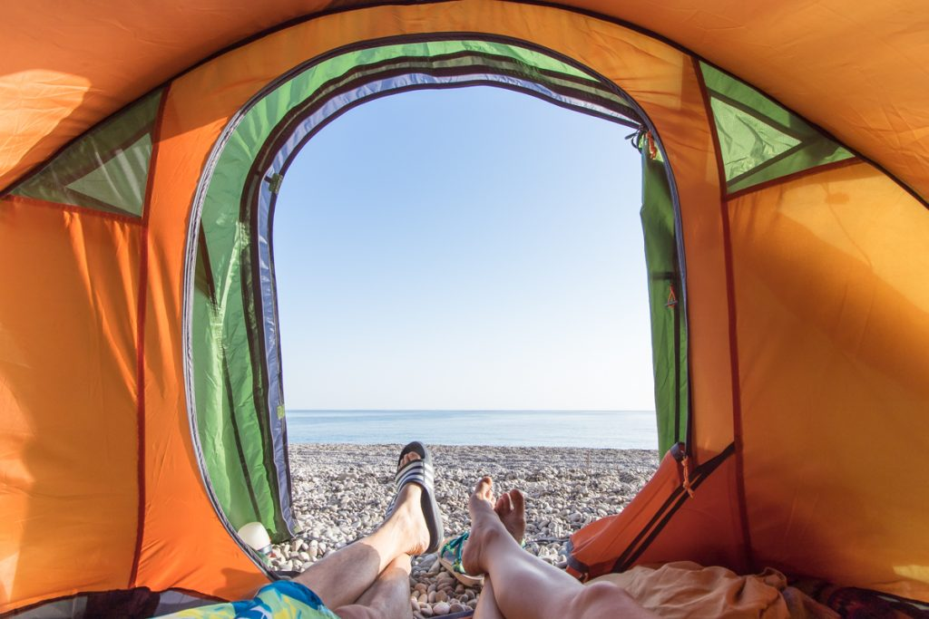 Tiwi beach, Oman, kampiranje