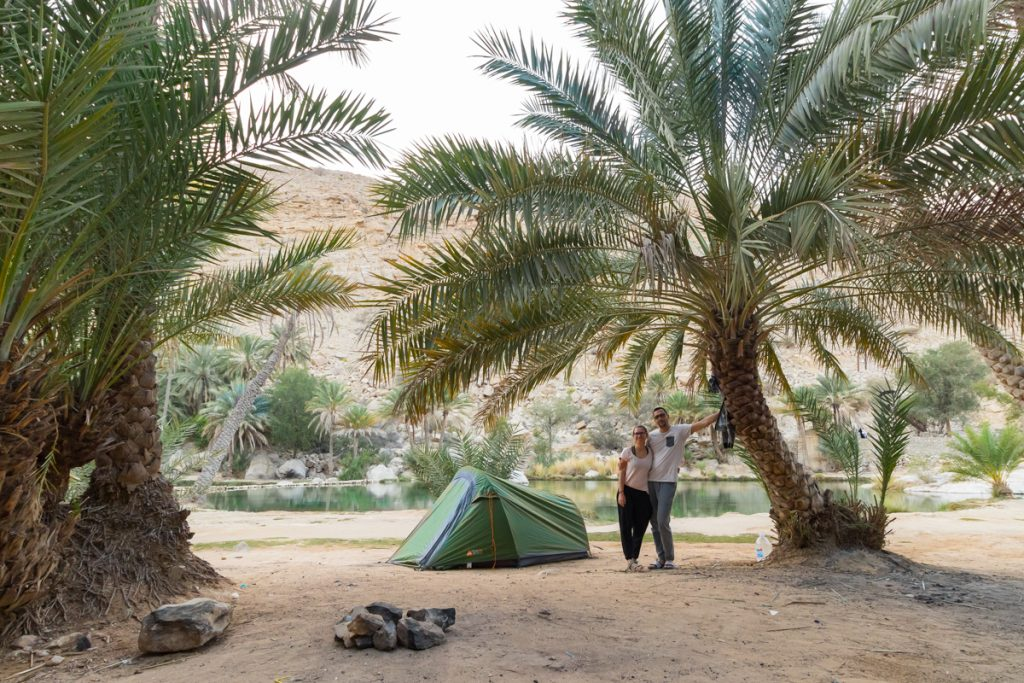 Kampiranje, Wadi Bani Khalid, Oman