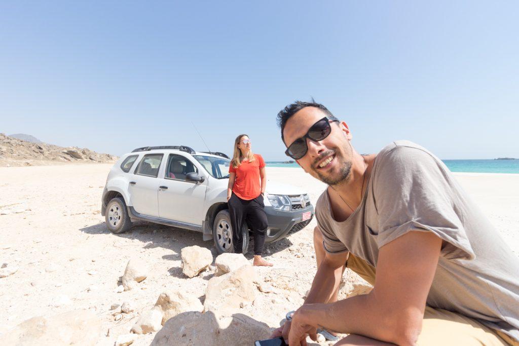 Najin avto v Omanu.