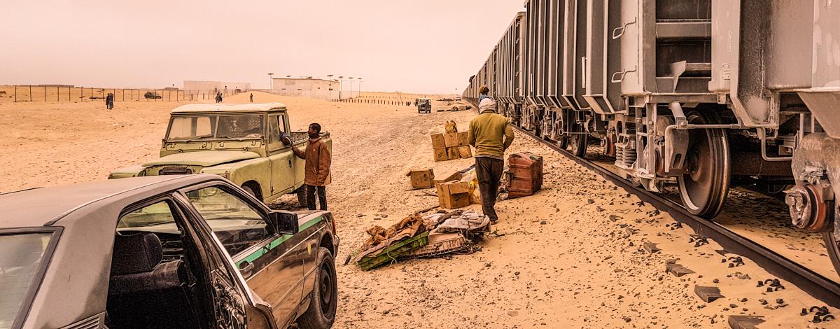 Nouadhibou, vlak, Mavretanija, Afrika