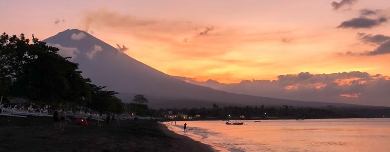 Amed, Bali sunset